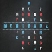 Health concept: Medicare in Crossword Puzzle Stock Illustration