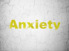 Stock Illustration of Medicine concept: Anxiety on wall background