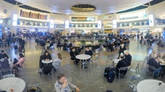 Time lapse of Passengers at Israel's Ben Gurion international airport - stock footage