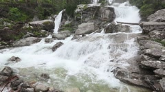 Summer Waterfall with Limpid Water. Stock Footage