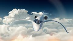 Corporate jet - stock illustration