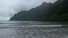 Summer Senja Coast Cloudy Night View. - stock footage