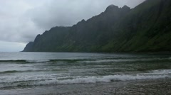 Summer Senja Coast Cloudy View. Stock Footage
