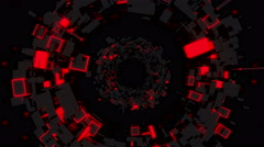 Red Tunnel - stock footage
