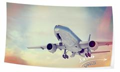 Commercial airplane - stock illustration