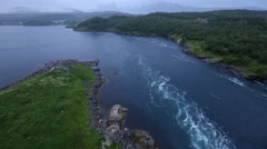 Fjord Summer Morning View (Norway) - stock footage