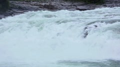 Mountain River with Cascade. - stock footage