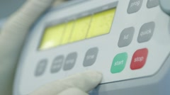 Start Button Of Electronic Medical Centrifuge - stock footage
