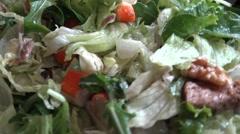 4k, Hands woman cheff preparing avocado salad with tuna and crab sticks-Dan Stock Footage