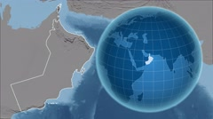 Oman and Globe. Set of five animations plus matte Stock Footage