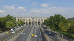 Istanbul Historical Aqueduct Stock Footage