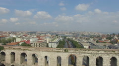 Istanbul Historical Aqueduct - stock footage