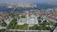 Istanbul Landscape, Suleymaniye Mosque Stock Footage