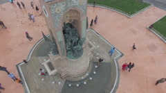 Istanbul,Taksim Square Republic Monument Stock Footage