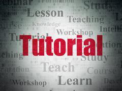 Education concept: Tutorial on Digital Paper background Stock Illustration