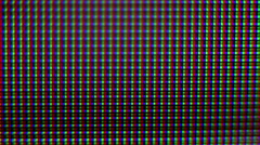 Rgb pixels macro tv screen Stock Footage