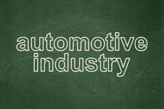 Industry concept: Automotive Industry on chalkboard background - stock illustration
