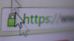Internet search engine typing Stock Footage