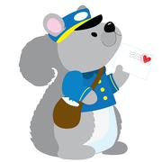 Squirrel Postman Stock Illustration