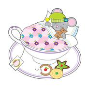 Stock Illustration of Teacup Mouse