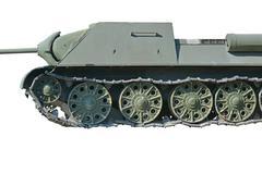 Old soviet tank - stock photo