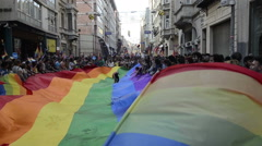 LGBTI Honour Prade while Gezi Park protests Stock Footage