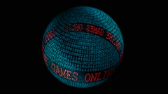 Games online spinning globe - stock footage