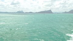 Andaman sea, Thailand. View from the boat Stock Footage