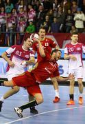 2015/16 EHF Champions League Last 16 Handball game Motor vs Veszprem Stock Photos