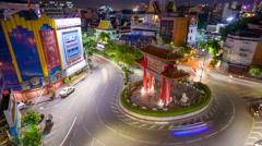 BANGKOK, THAILAND Traffic passes through Chinatown. Stock Footage