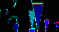 Colorful Falling Triangle Pieces  Stock Footage
