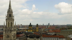 Timelapse with panoramic view of Munich city center Stock Footage
