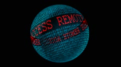 Remote access spinning globe - stock footage
