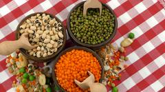 Stock Photo of Delicious Mixed of Legumes Food