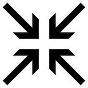 Collide Arrows Flat Vector Icon - stock illustration