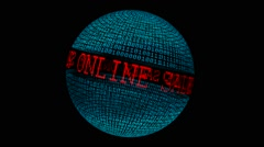 Sales online spinning globe - stock footage