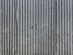 Corrugated steel sheets texture Stock Photos