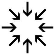 Pressure Arrows Flat Vector Icon - stock illustration
