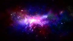 Space Nebula Galaxy Stock Footage