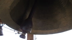 Ring of Bells on the belfry - stock footage
