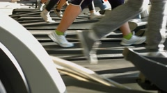 Training apparatus in gym hall. - stock footage