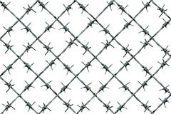 Barbed Wire Fence Pattern - stock illustration
