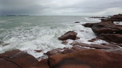 The Pink Granite Coast (France). Stock Footage