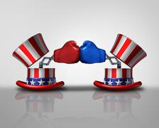 American election fight Stock Illustration