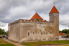 Bishop Castle in Kuressaare on Saaremaa Island, Estonia, Europe - stock photo