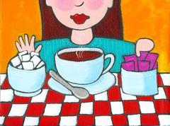 Girl Choosing Sugar Stock Illustration