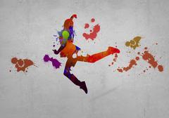 Abstract dancer - stock illustration