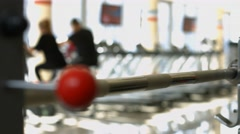 Training apparatus in gym hall. Stock Footage