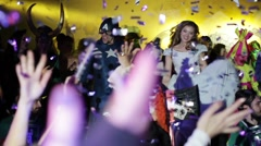 Night party in club. Stock Footage