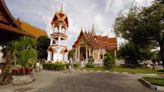 Wat Chalong, Buddhist temple and popular tourist attraction in Phuket, Thaila Stock Footage